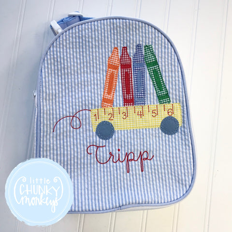 Gumdrop Lunch Box + Applique With Personalization