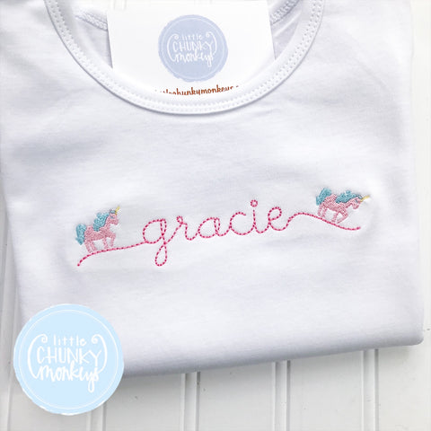 Girl Shirt - Unicorn Script Name