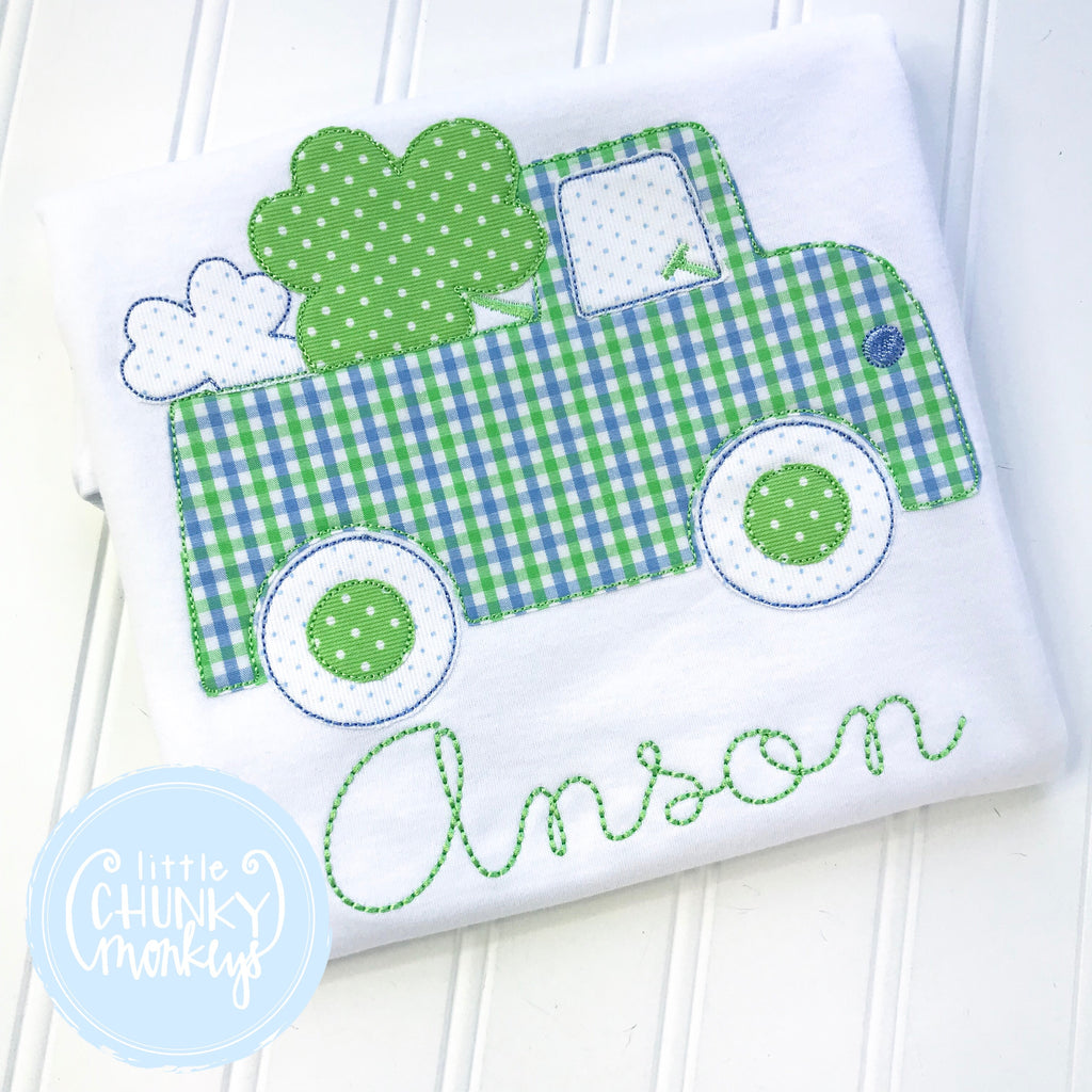 Boy Outfit - Boy St. Patrick's Day Outfit - St. Patrick's Truck Shirt