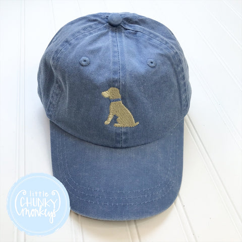 Toddler Kid Hat - Sitting Lab Puppy on Light Blue