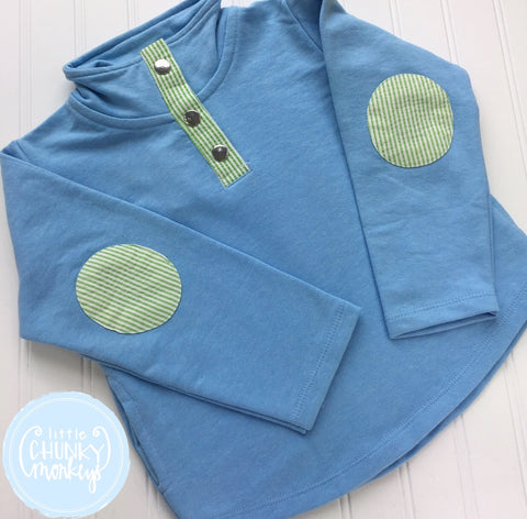 Light Blue/Green Pullover