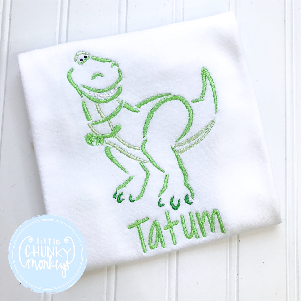 Boy Shirt - Embroidered Dinosaur