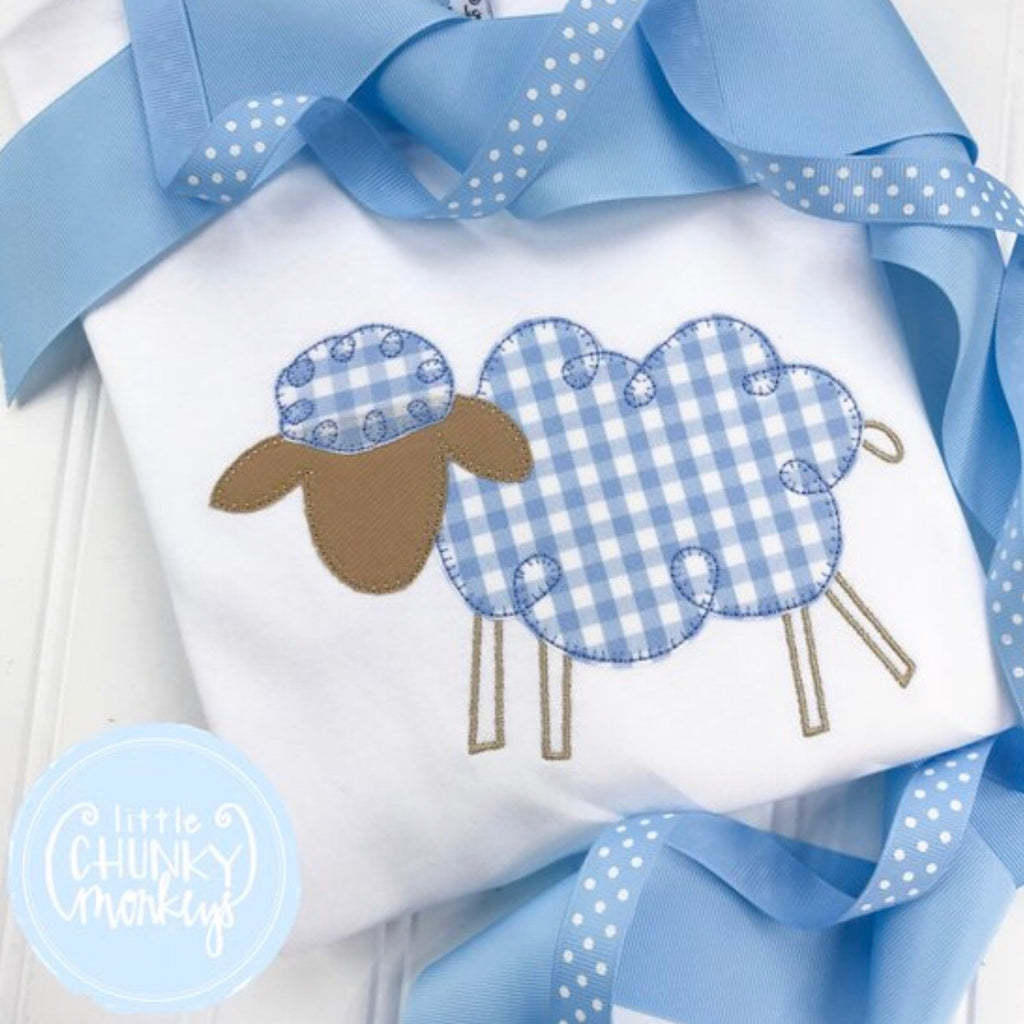 Boy Shirt - Lamb Applique