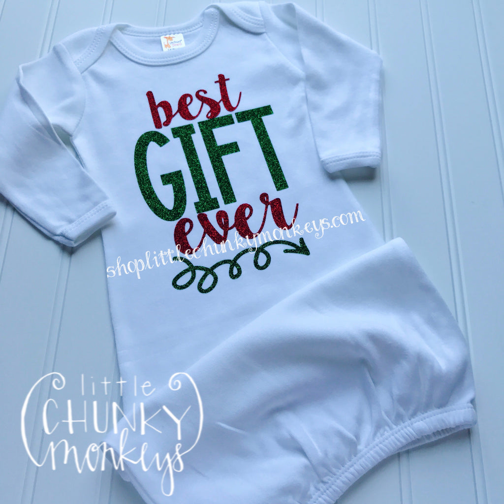 Baby Christmas Outfit - Best Gift Ever Gown