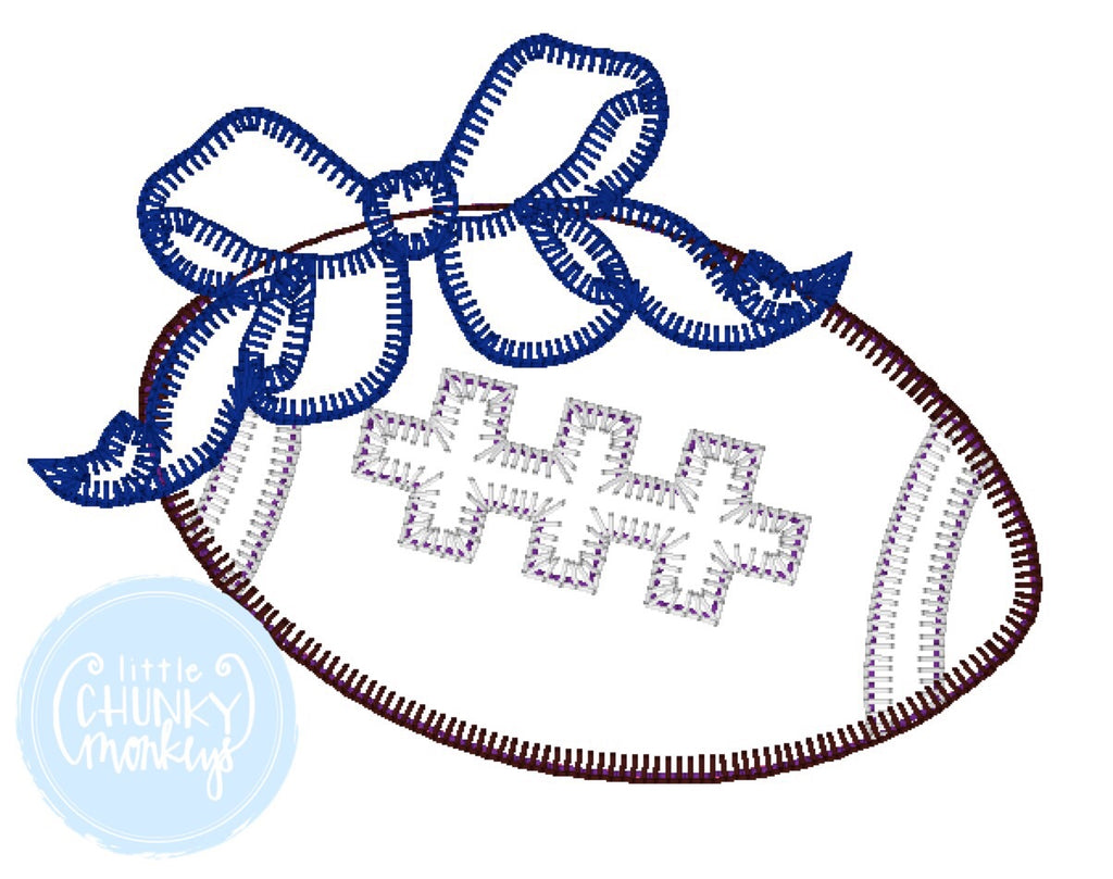 Football Shirt - Football Applique with Bow