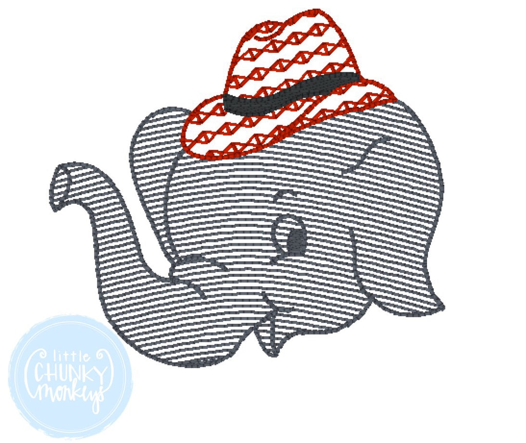 Football Shirt - Sketch Filled Elephant with Fedora Hat