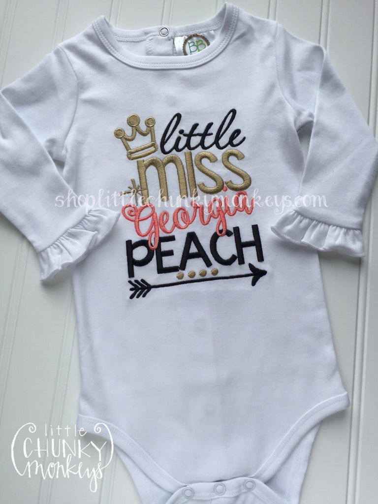 Girl Outfit - Girl Shirt - Little Miss Georgia Peach