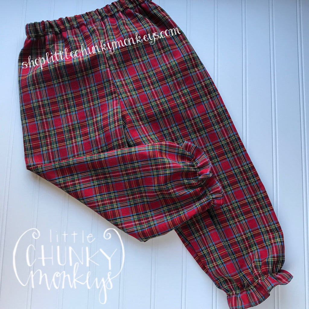 Girl Ruffle Bloomer Pants - Tartan Plaid
