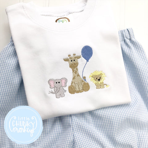 Boy Shirt - Embroidered Animal Trio