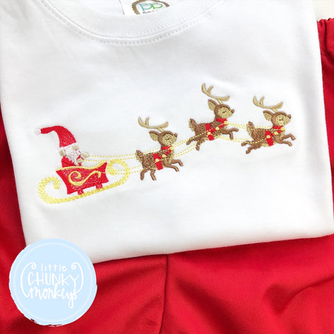 Boy Shirt - Santa and his sleigh