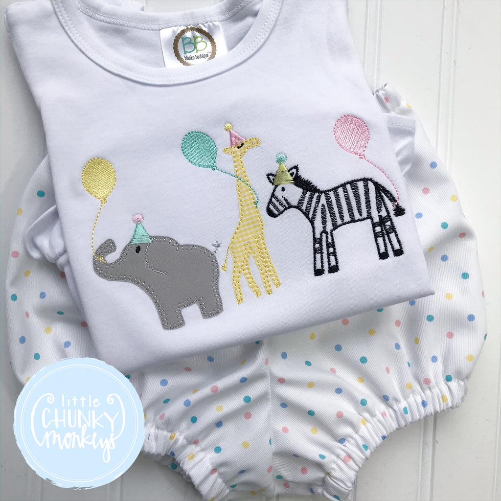 Girl Shirt - Zoo Birthday Shirt