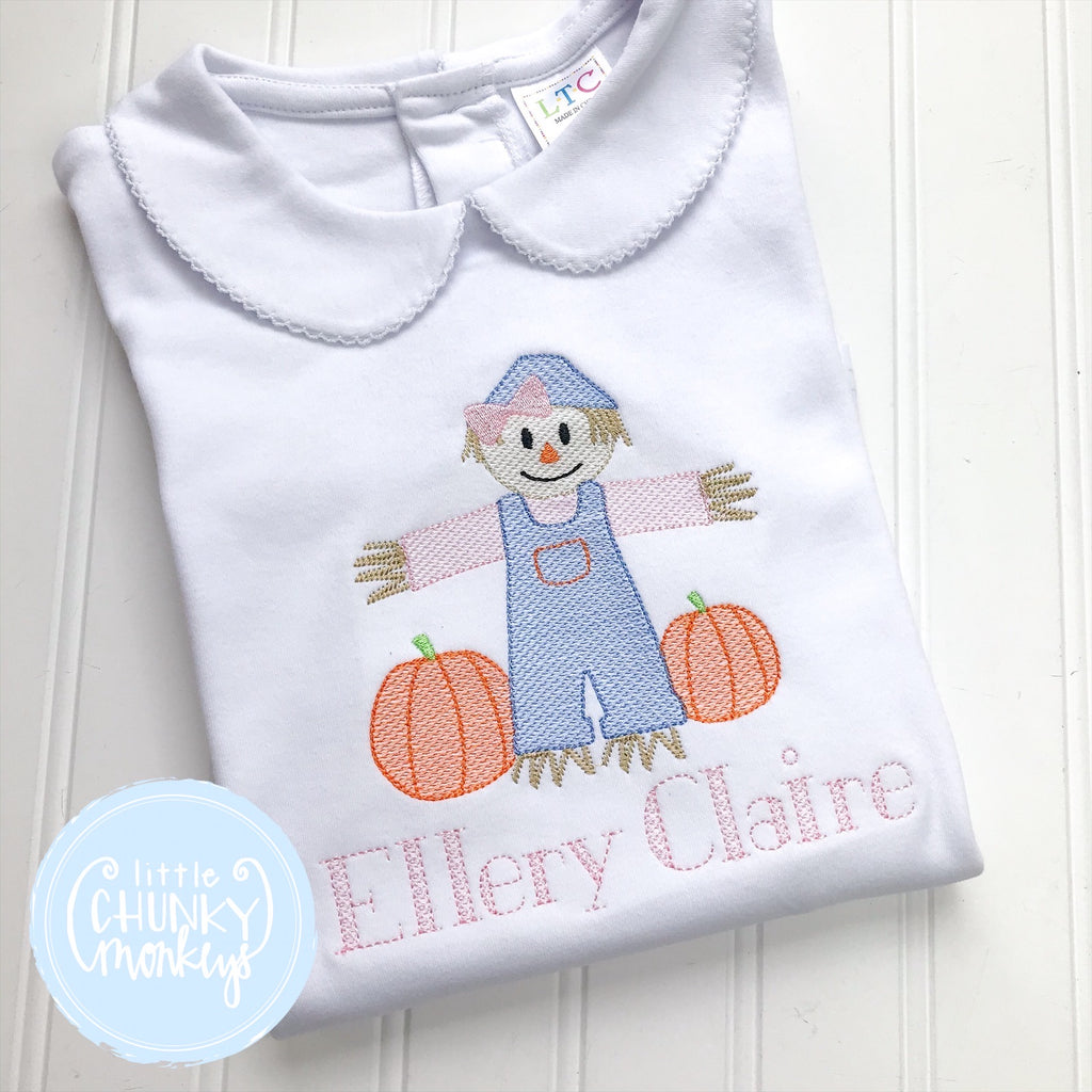 Girl Shirt- Stitched Scarecrow + Personalization