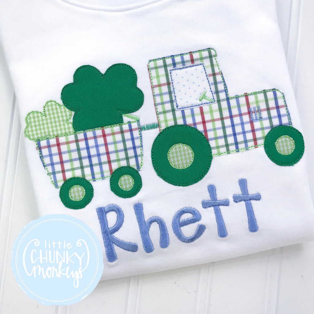 Boy Outfit - Boy St. Patrick's Day Outfit - St. Patrick's Tractor Shirt
