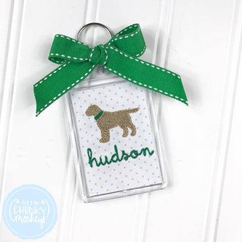 Personalized Luggage Tag - Dog with Collar & Personalization