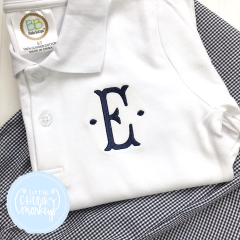Boy Polo Shirt - Single Initial