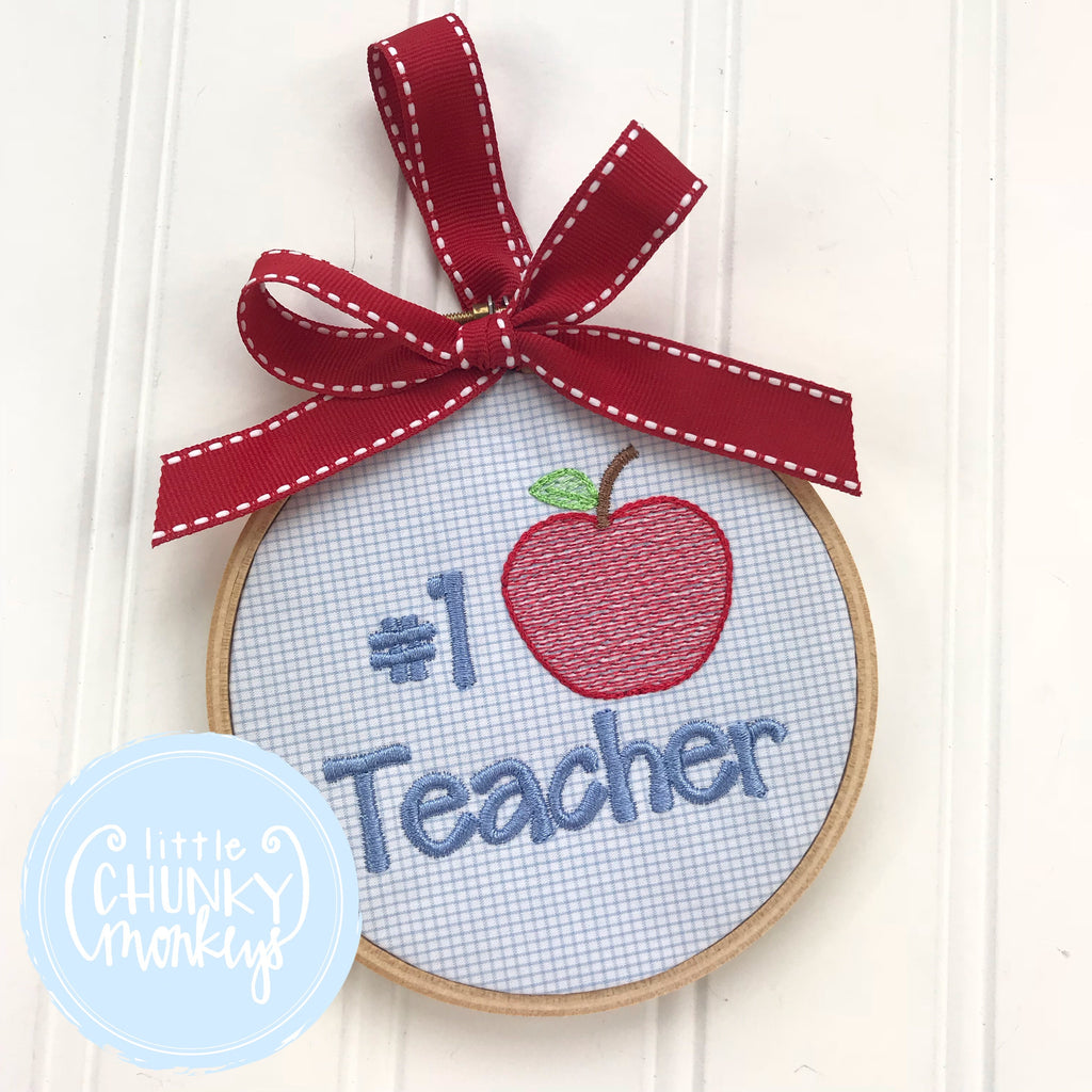 #1 Teacher Ornament