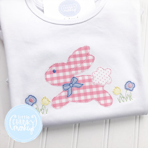 Girl Shirt - Bunny and Flowers