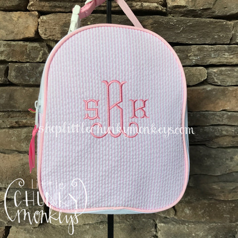 Gumdrop Lunch Box + Personalization on Light Pink