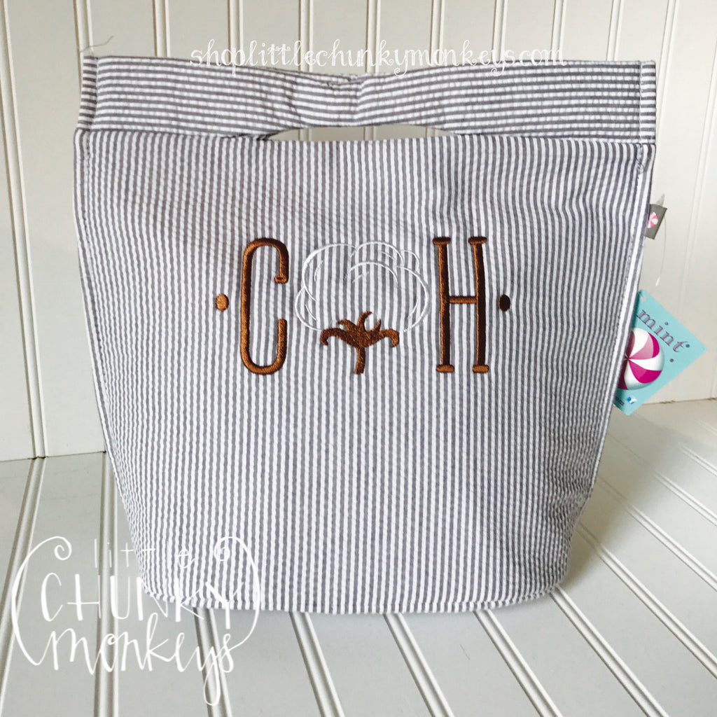 Personalized Mini Lizzie Lunch Tote + Cotton Dots Design