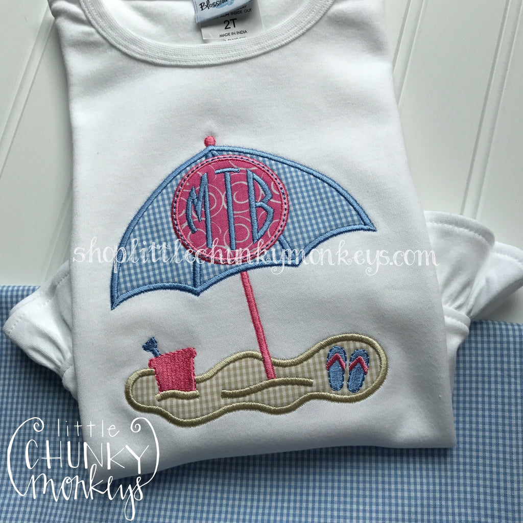 Girl Shirt - Girl Summer Shirt - Personalized Beach Umbrella
