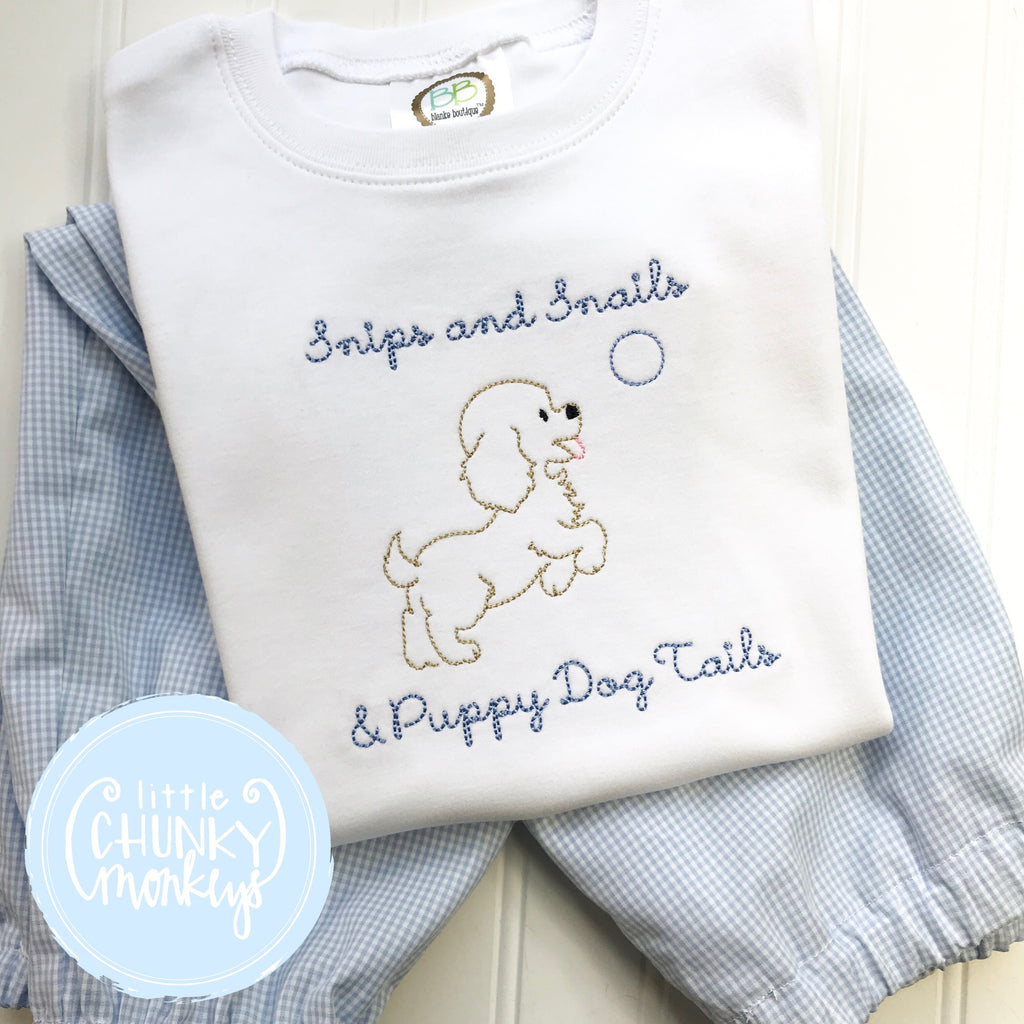 Boy Shirt - Vintage Puppy with Ball
