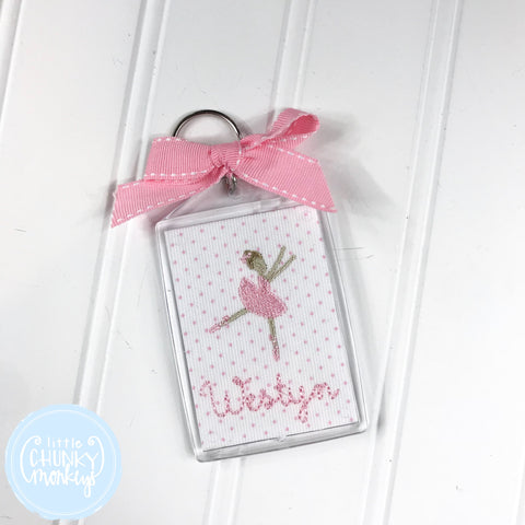 Personalized Luggage Tag - Ballerina with Personalization