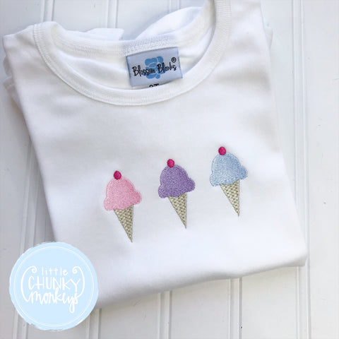 Girl Shirt - Ice Cream Trio
