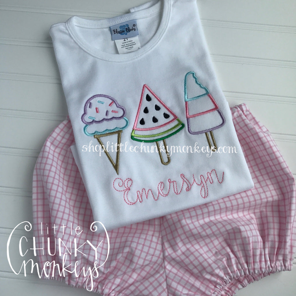 Girl Shirt - Personalized Ice Cream Trio Shirt
