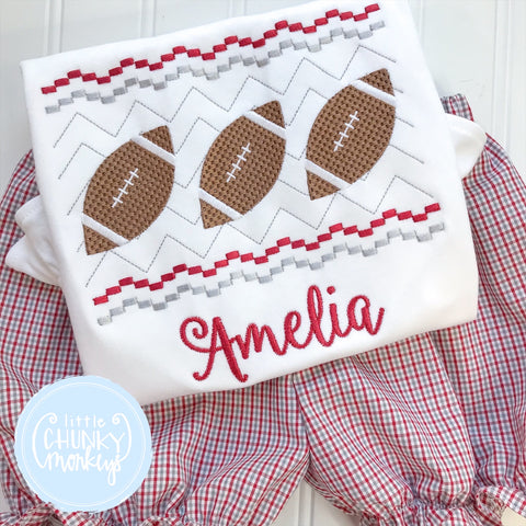 Crimson and Gray Football Trio Stitched Shirt