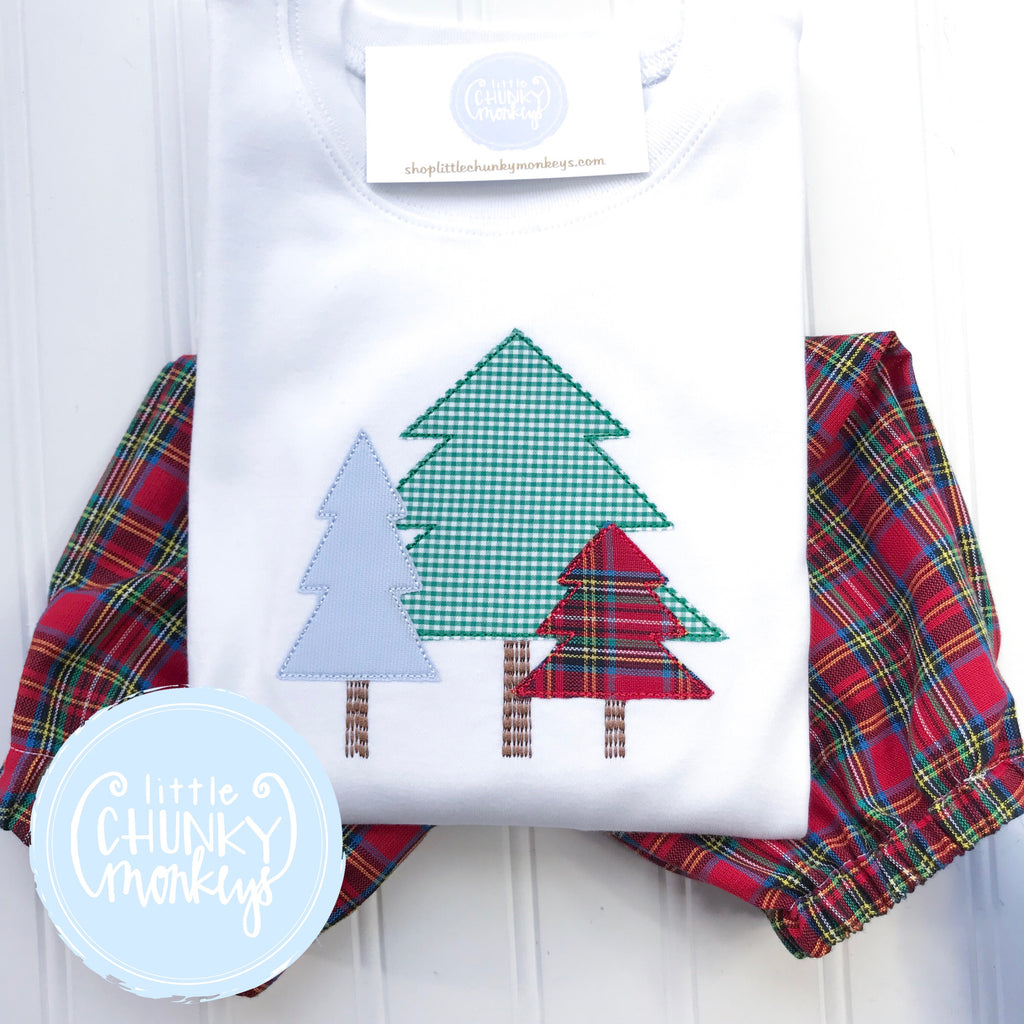 Boy Shirt - Woodland Tree Trio