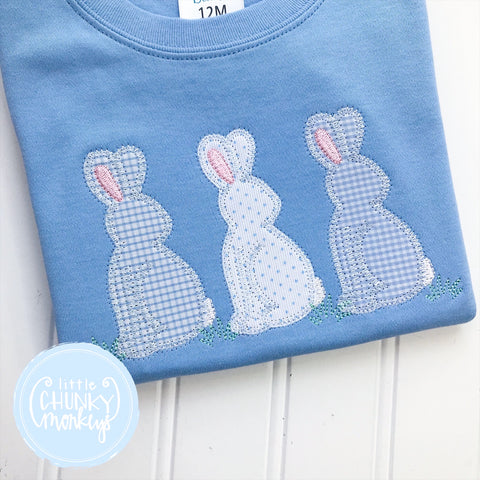 Easter Boy Shirt - Applique Bunny Trio
