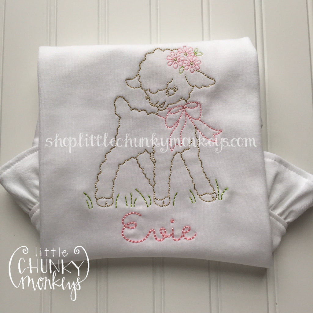 Girl Shirt - Personalized Vintage Lamb Tee