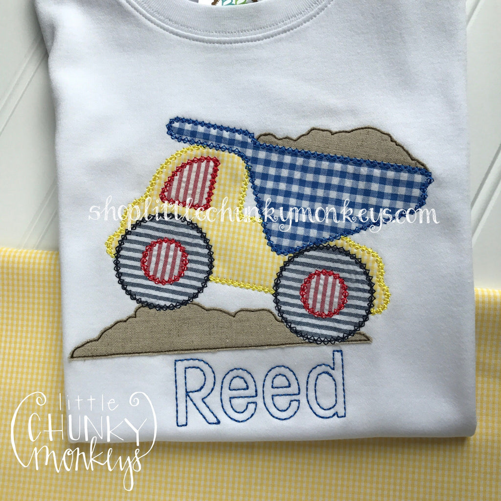 Boy Outfit - Boy Shirt - Dump Truck Applique Shirt