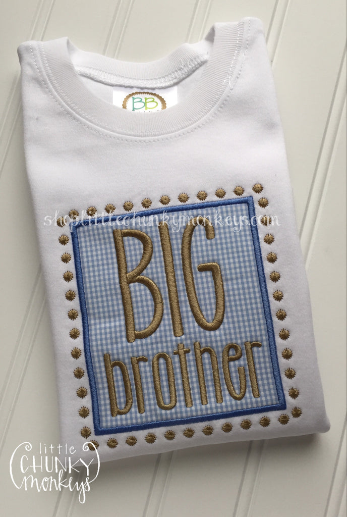 Boy Outfit - Boy Shirt - Personalized Big Brother Applique Tee