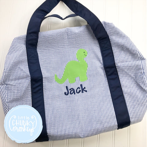 Medium Duffle- Applique Dinosaur with Personalization