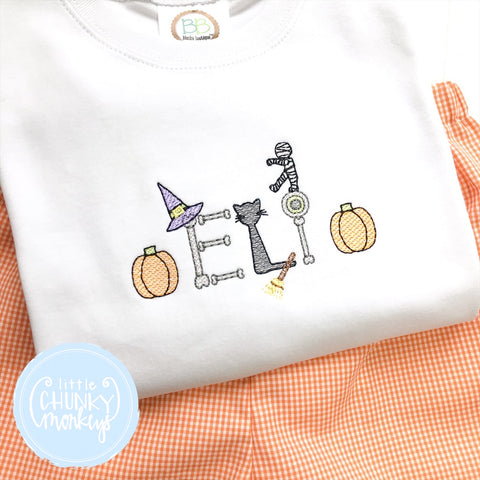 Boy Shirt- Personalization with Halloween Items