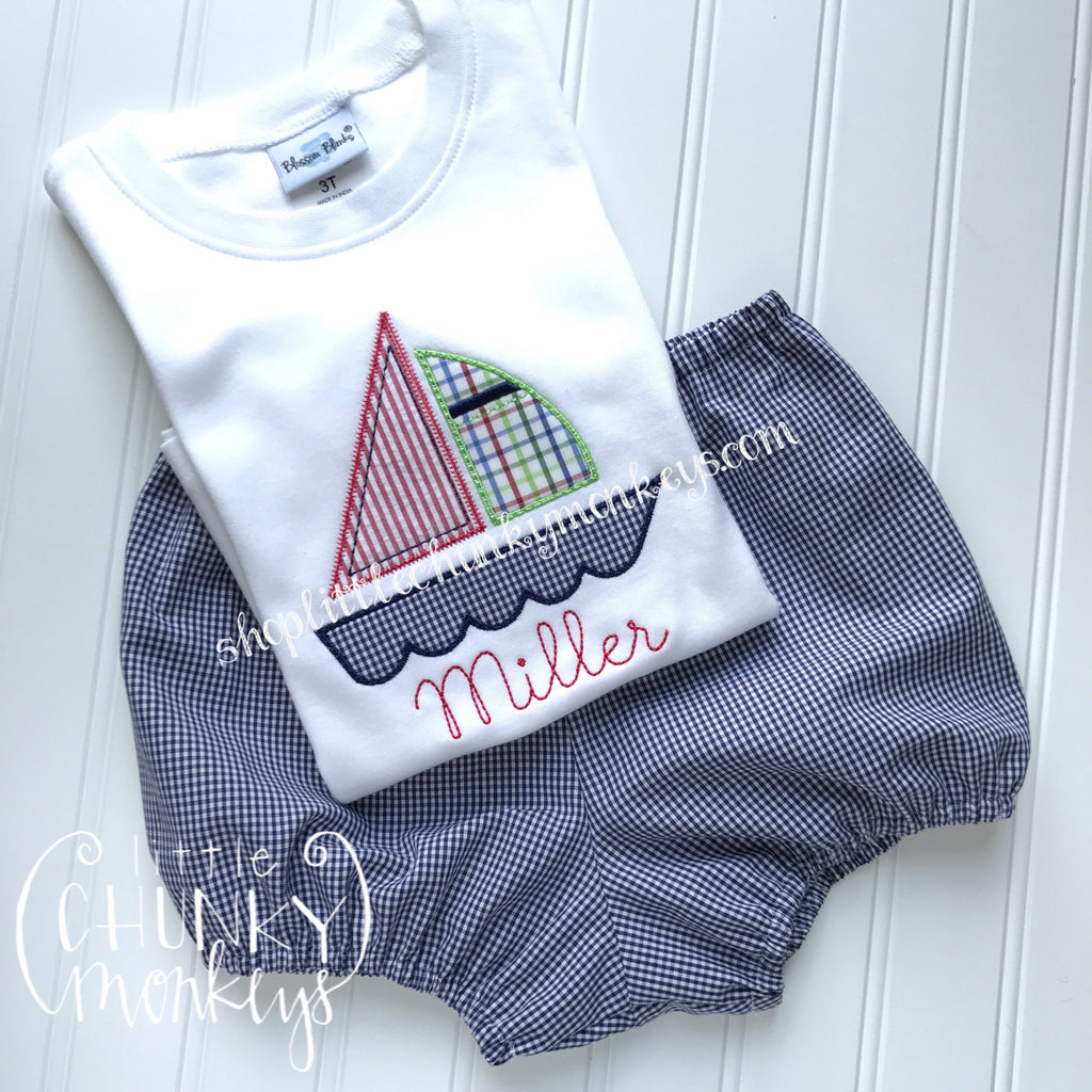 Boy Shirt - Sailboat Applique