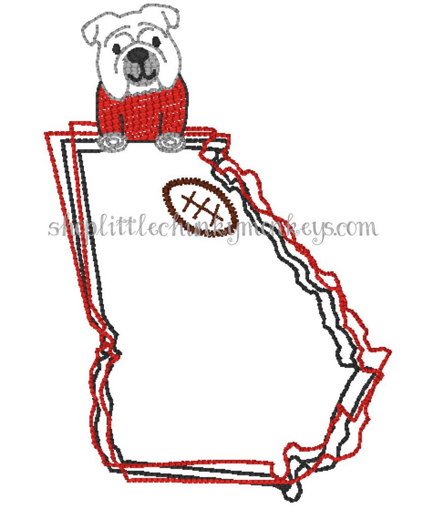 Football Shirt - Stitch Bulldog Georgia