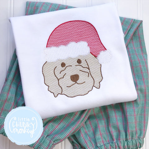 Unisex Shirt -Dog Wearing Santa Hat