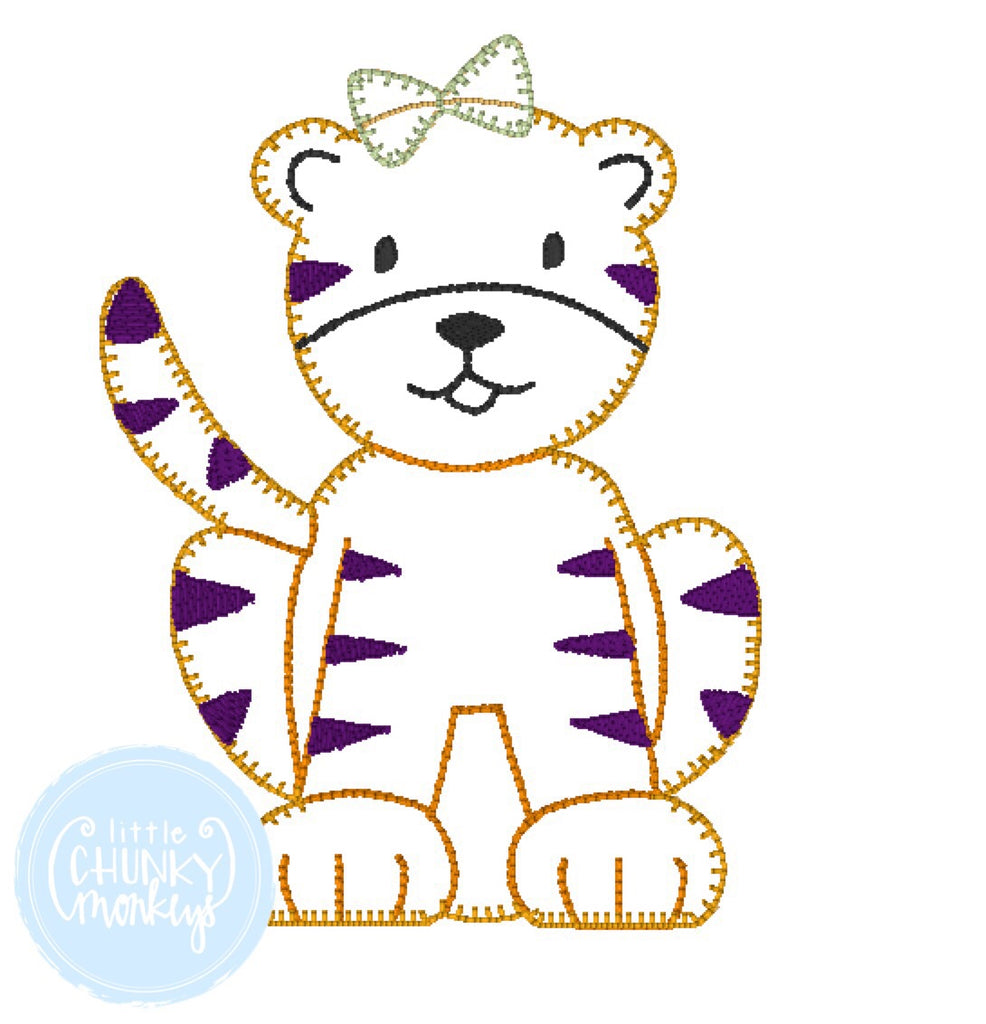 Football Shirt - Girl Tiger Applique