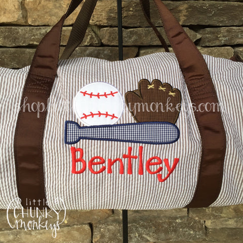 Duffle + Applique Design on Brown
