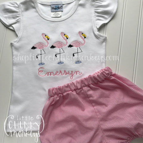 Girl Shirt - Flamingo Trio