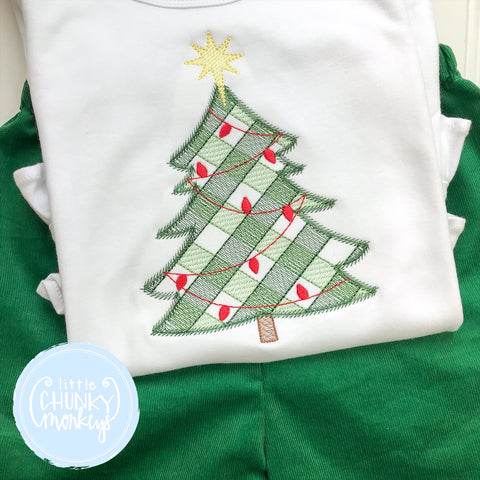 Boy Shirt -Embroidered Christmas Tree