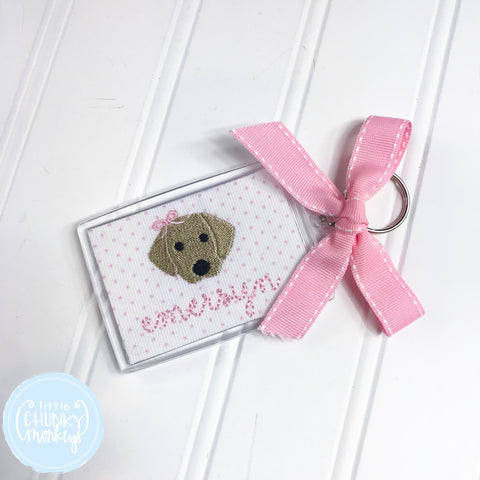 Personalized Luggage Tag - Puppy with Bow