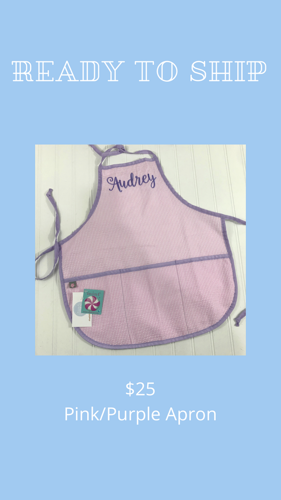 "Ready to Ship - Apron ""Audrey"" - Pink/Purple"