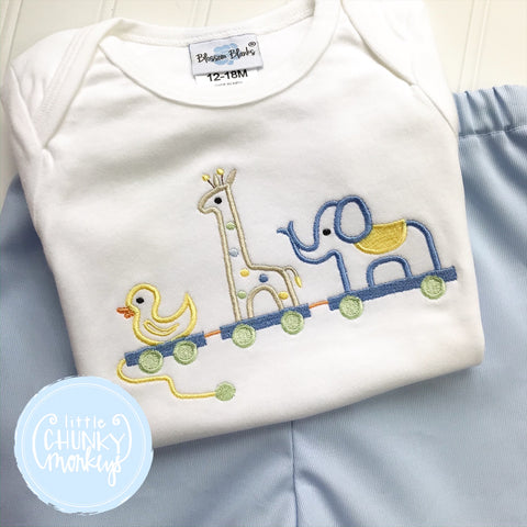 Boy Shirt - Sweet Animal Trio Pull Toy