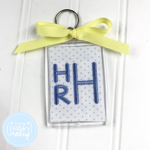 Personalized Luggage Tag - Stacked Monogram