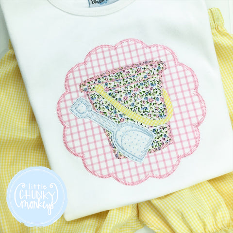 Girl Shirt - Applique Sand Pail and Shovel
