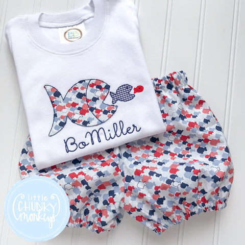 Boy Shirt - Fish Applique