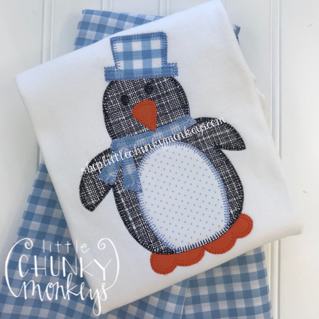 Boy Outfit - Boy Winter Outfit - Penguin Boy Shirt